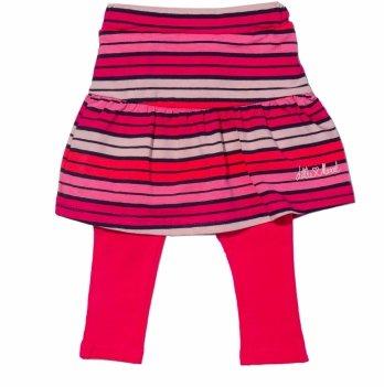 Юбка-лосины для девочки 2в1 Little Marcel розовая в полосы
