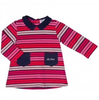 Платье для девочки Little Marcel полосатое
