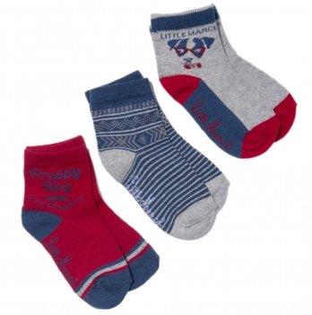Носки для малышей Little Marcel сине-бордовые, 3 пары