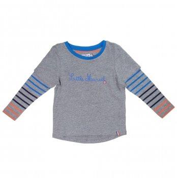 Реглан для мальчика Little Marcel серый в полосы