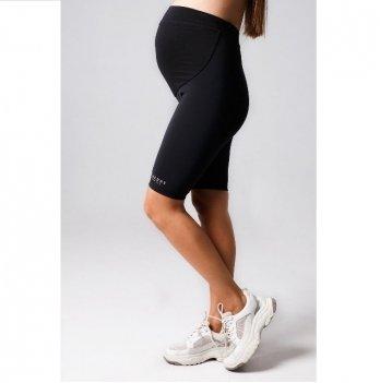 Лосины короткие для беременных бифлекс MBerry dress Черный
