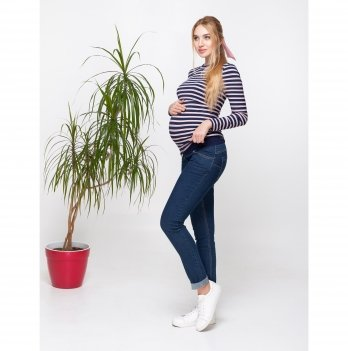 Джинсы для беременных Юла мама Loria Темно-синий DM-30.021