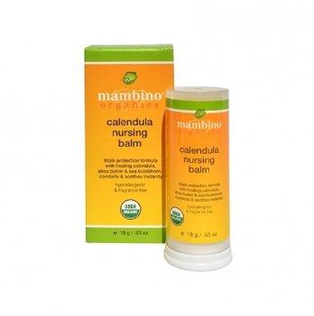 Бальзам по уходу за кожей сосков с календулой, 18гр, Mambino Organics