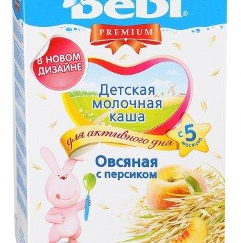 Каша овсяная Kolinska Bebi PREMIUM, молочная, с персиком 250 г
