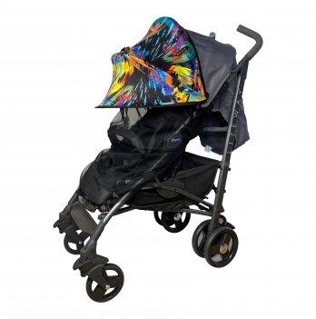 Солнцезащитный козырек на коляску с черной москитной сеткой ДоРечi Must Have Shade Краски 1847F