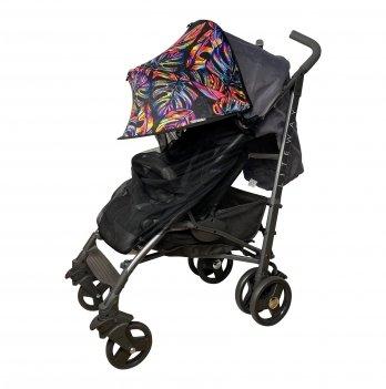 Солнцезащитный козырек для коляски с черной москитной сеткой ДоРечi Must Have Shade Тропические листья 1847T