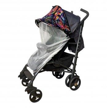 Солнцезащитный козырек для коляски с белой москитной сеткой ДоРечi Must Have Shade Тропические листья 1846T