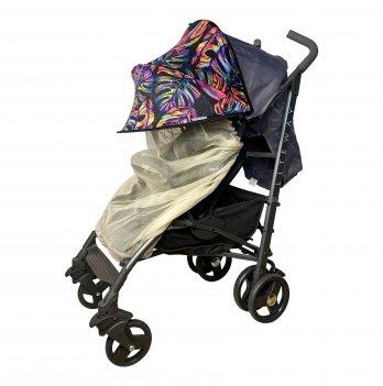 Солнцезащитный козырек для коляски с бежевой москитной сеткой ДоРечi Must Have Shade Тропические листья 1870T