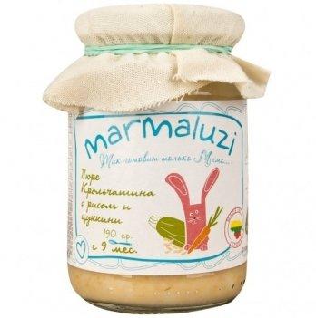 Пюре Marmaluzi из крольчатины с рисом и цукини 190 г