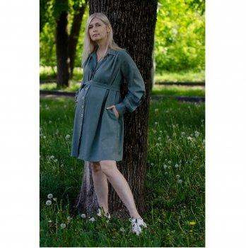 Платье для беременных и кормящих White Rabbit Marta Oliva Серо-зеленый