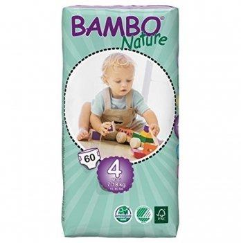 Подгузники противоаллергенные Bambo Nature Maxi Tall Pack 7-18 кг, 60 шт.