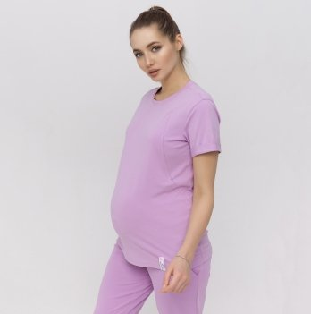 Футболка для беременных и кормления Юла Мама Megan Сиреневый NR-21.012