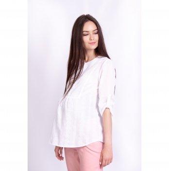 Блуза для беременных и кормящих мам Moon White Rabbit белый