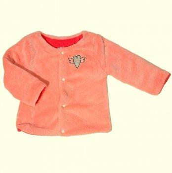 Кофта пушистая для девочки Naf Naf на подкладке, розовая