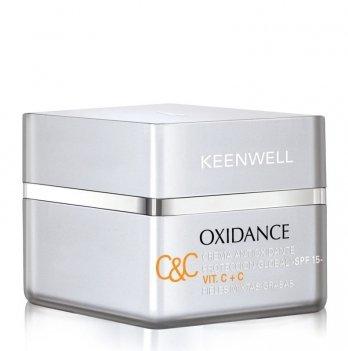Дневной антиоксидантный мультизащитный крем Keenwell Antioxidante, Vit C+C, с витаминами C+C (SPF 15)
