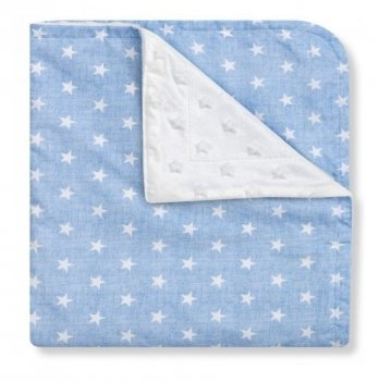 Полотенце-уголок Interbaby Star, голубое