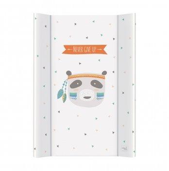Пеленальный жесткий матрас Ceba Baby Osito, 50х70 см, белый с разноцветным/рисунок медведь
