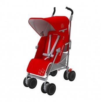 Прогулочная коляска Maclaren Techno XT, красная c серым