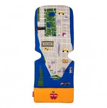 Матрас универсальный для коляски Maclaren New York City Map, темно-синий