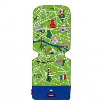 Матрас универсальный для коляски Maclaren Paris City Map, салатовый