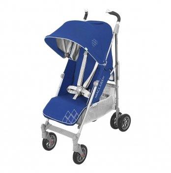 Коляска Maclaren Techno XT Blue Silver, синяя с серым