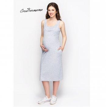 Платье-майка для беременных и кормящих мам Creative Mama PEARL