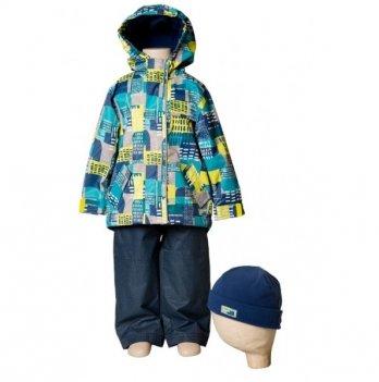 Демисезонный костюм (куртка и штаны + шапка) Deux par Deux PU 53-007