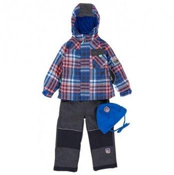 Демисезонный костюм 3 в 1 (куртка, штаны, флисовая кофта + шапка) Deux par Deux PU-57