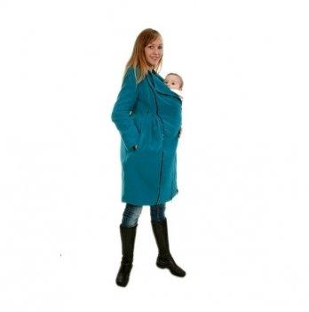 Пальто демисезонное 3 в 1, Мamasik, бирюзовое