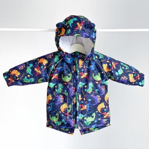Демисезонная куртка на мальчика ДоРечi 1-3 года Динозавры в космосе 1962