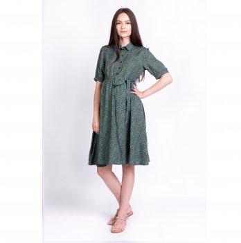 Платье для беременных и кормящих мам Penny White Rabbit темно-зеленый