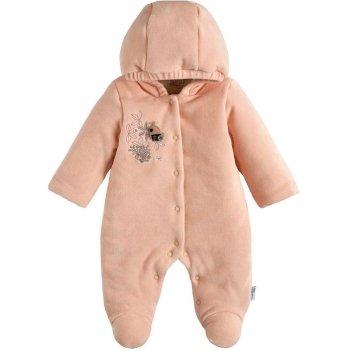 Велюровый комбинезон для девочки Garden baby Happy Персиковый 3-9 мес 2099-01/32