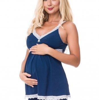 Пижама для беременных и кормящих мам DISSANNA 3081
