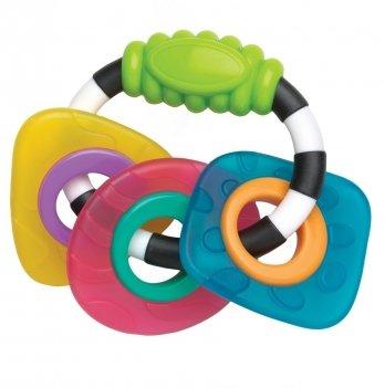 Погремушка-прорезыватель Playgro, Геометрические формы, 0182952