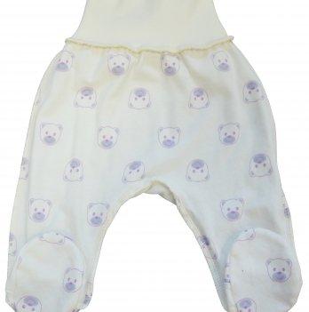 Ползунки Baby Bear lilac Veres футер