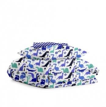 Комплект постельного белья Cosas Дино синий 3 предмета