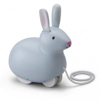 Игрушка-каталка Kid O, Прыгающий Кролик, на веревочке