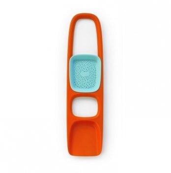 Игрушка для песка Quut лопатка с ситом SСOPPI, цвет оранжевый+голубой