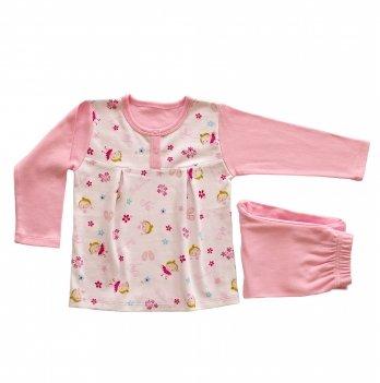Пижама для девочки, Lucky tots, Гапчинская, розовая