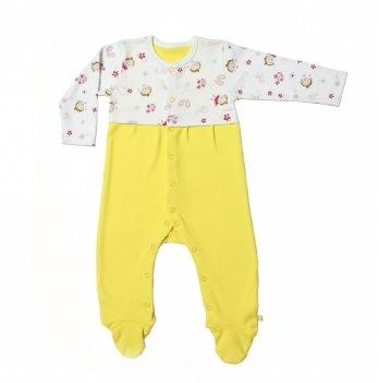 Человечек для новорожденных Lucky tots Гапчинская желтый цельная спинка