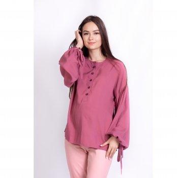Блуза для беременных и кормящих мам Rustic White Rabbit темно-розовый