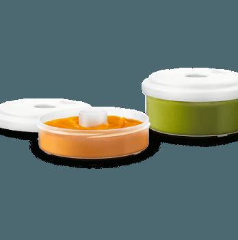 Аксессуары для хранения еды к пароварке-блендеру Avent SCF876/02 120 мл и 240 мл 2 шт.