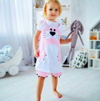 Сарафан для девочки Dora Кошечка розовый