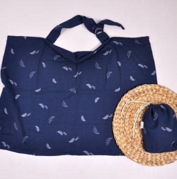 Муслиновая накидка для кормления с сумочкой-чехлом Magbaby Синий