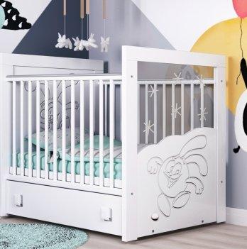 Детская кроватка СидиМ Смешарики Baby Cot Smesharik с маятниковым механизмом