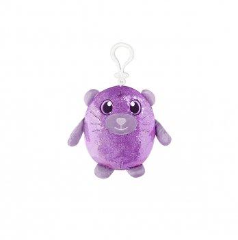 Мягкая игрушка с пайетками Shimmeez, Ловкий котенок, 9 см, на клипсе