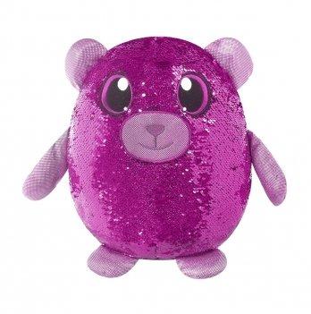Мягкая игрушка с пайетками Shimmeez, Медвежонок сладкоежка, 36 см