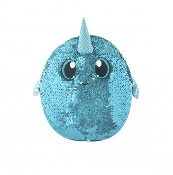 Мягкая игрушка с пайетками Shimmeez, Загадочный нарвал, 20 см