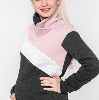 Теплый свитшот MySecret, для беременных и кормящих, DINA WARM SW-48.161
