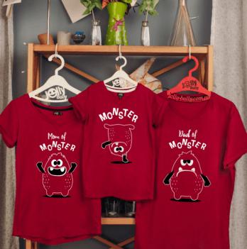 Фэмили лук семейный Jolly Bully Монстры, футболки